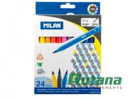 Flomasteriai Fine 24 spalvų Milan 06121224