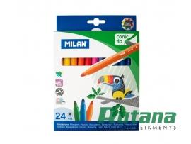 Flomasteriai Conic 24 spalvų Milan 0612324