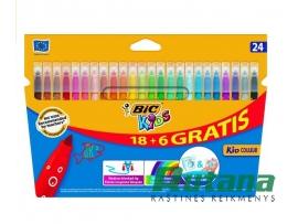 Flomasteriai Kid Couleur 24 spalvų BIC