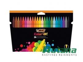 Flomasteriai Color Up 24 spalvų BIC