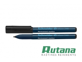 Permanentinis žymeklis Maxx 240 1-2 mm juodas Schneider 124001