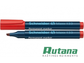 Permanentinis žymeklis Maxx 133 1-4 mm raudonas Schneider