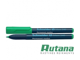 Permanentinis žymeklis Maxx 240 1-2 mm žalias Schneider 124004