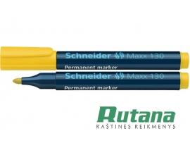 Permanentinis žymeklis Maxx 130 1-3 mm geltonas Schneider
