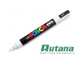 Žymeklis POSCA PC-5M 1.8-2.5mm baltas Uni Mitsubishi Pencil