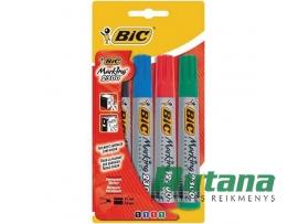 Permanentinių žymeklių Marking 2300 kirsti 4 spalvų rinkinys BIC