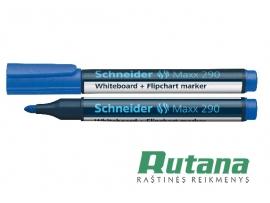 Žymeklis baltai lentai Maxx 290 mėlynas Schneider 129002