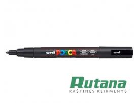 Žymeklis POSCA PC-3M 0.9-1.3mm juodas Uni Mitsubishi Pencil
