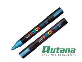 Žymeklis POSCA PC-5M 1.8-2.5mm metaliko mėlynas Uni Mitsubishi Pencil