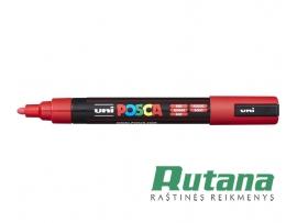 Žymeklis POSCA PC-5M 1.8-2.5mm raudonas Uni Mitsubishi Pencil