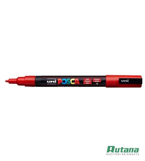 Žymeklis POSCA PC-3M 0.9-1.3mm raudonas Uni Mitsubishi Pencil