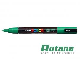 Žymeklis POSCA PC-3M 0.9-1.3mm žalias Uni Mitsubishi Pencil