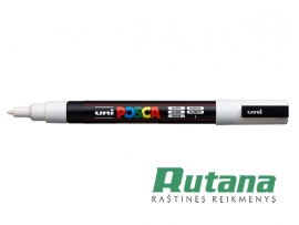 Žymeklis POSCA PC-3M 0.9-1.3mm baltas Uni Mitsubishi Pencil