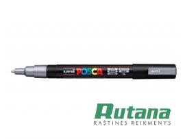 Žymeklis POSCA PC-3M 0.9-1.3mm metaliko sidabrinis Uni Mitsubishi Pencil