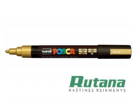 Žymeklis POSCA PC-5M 1.8-2.5mm metaliko auksinis Uni Mitsubishi Pencil