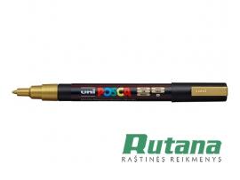 Žymeklis POSCA PC-3M 0.9-1.3mm metaliko auksinis Uni Mitsubishi Pencil