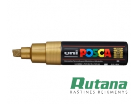 Žymeklis POSCA PC-8K 8.0mm metaliko auksinis Uni Mitsubishi Pencil