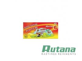 "Plastilinas 6 spalvų 120g ""Multiki"" Gamma"