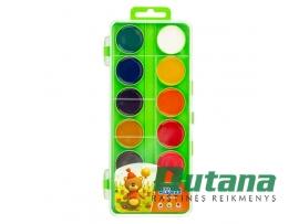"""Akvarelė 12 spalvų """"Cvetik"""" žalia dėžutė Nevskaja Palitra"""